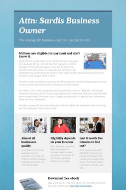 Attn: Sardis Business Owner