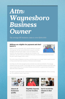 Attn:  Waynesboro Business Owner