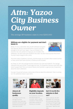 Attn:  Yazoo City Business Owner