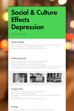 Social & Culture Effects Depression