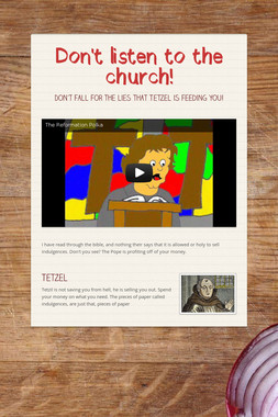 Don't listen to the church!