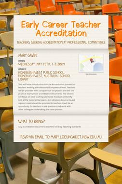 Early Career Teacher Accreditation