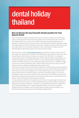 dental holiday thailand