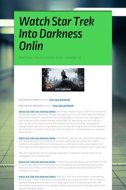 Watch Star Trek Into Darkness Onlin