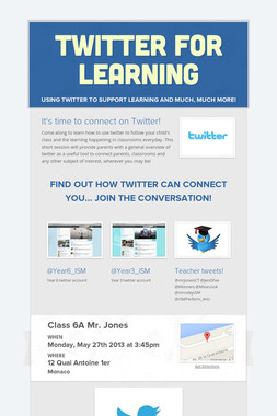 Twitter for Learning