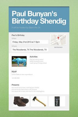 Paul Bunyan's Birthday Shendig