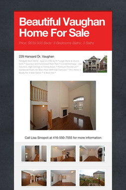 Beautiful Vaughan Home For Sale