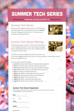 Summer Tech Series