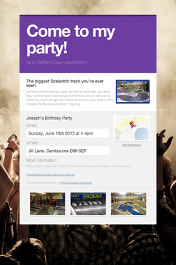 Come to my party!