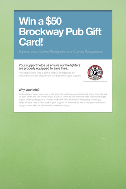 Win a $50 Brockway Pub Gift Card!