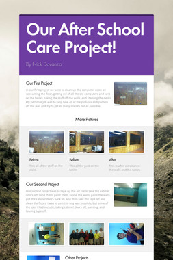 Our After School Care Project!
