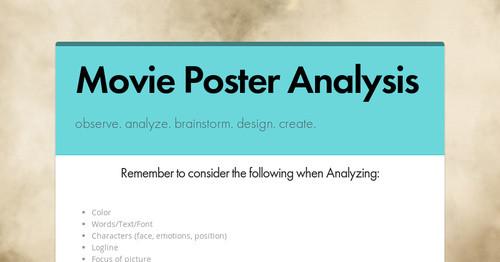 movie poster analysis
