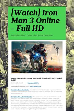 [Watch] Iron Man 3 Online - Full HD