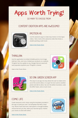 Apps Worth Trying!