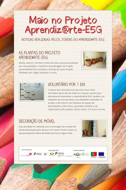 Maio no Projeto Aprendiz@rte-E5G