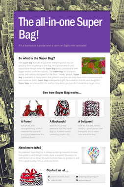 The all-in-one Super Bag!
