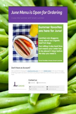 June Menu is Open for Ordering