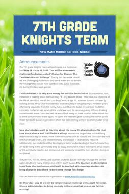 7th Grade Knights Team