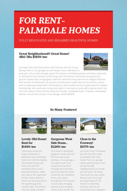 FOR RENT- PALMDALE HOMES
