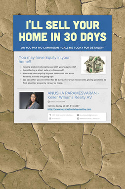 I'll sell your home in 30 days