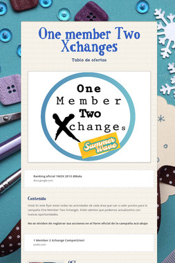 One member Two Xchanges