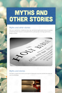 Myths and other stories