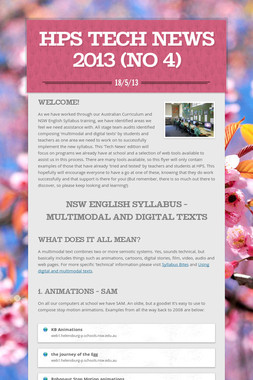 HPS Tech News 2013 (no 4)