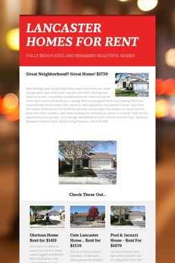 LANCASTER HOMES FOR RENT