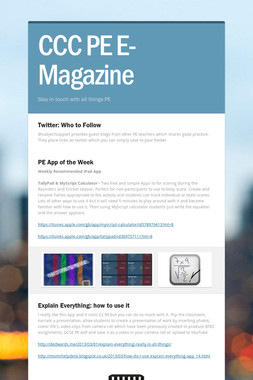 CCC PE E-Magazine