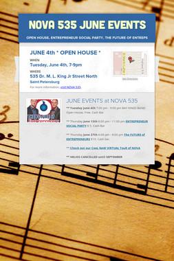 NOVA 535 JUNE EVENTS
