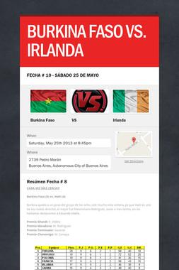 BURKINA FASO VS. IRLANDA