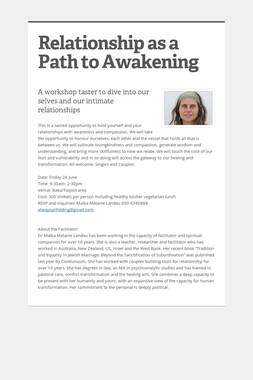 Relationship as a Path to Awakening