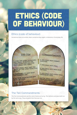 Ethics (code of behaviour)