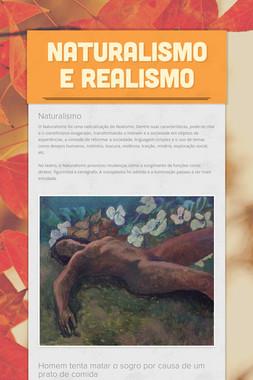 Naturalismo e Realismo