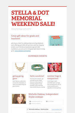 STELLA & DOT MEMORIAL WEEKEND SALE!
