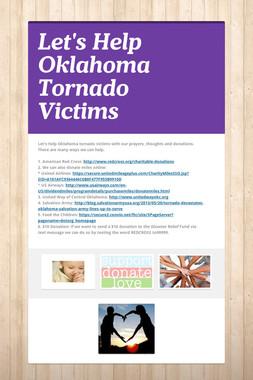 Let's Help Oklahoma Tornado Victims