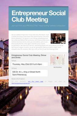 Entrepreneur Social Club Meeting
