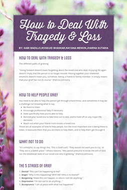 How to Deal With Tragedy & Loss