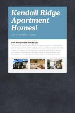 Kendall Ridge Apartment Homes!