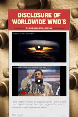 Disclosure of Worldwide WMD's