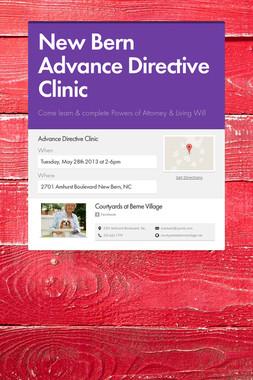 New Bern Advance Directive Clinic