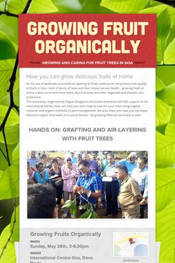 Growing Fruit Organically