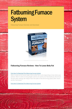 Fatburning Furnace System