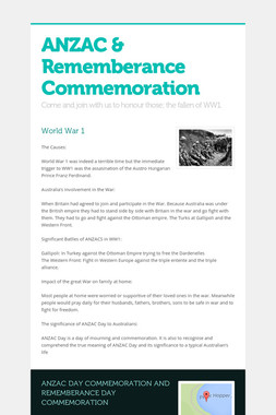 ANZAC & Rememberance Commemoration
