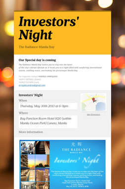 Investors' Night