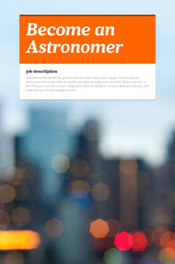 Become an Astronomer