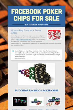 Facebook Poker Chips for Sale