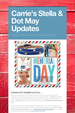 Carrie's Stella & Dot May Updates