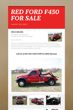RED FORD F450 FOR SALE