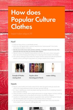 How does Popular Culture Clothes